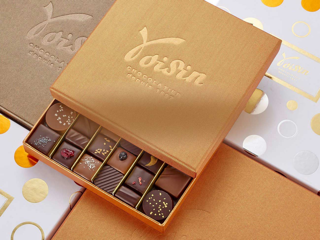 Coffrets de chocolats Voisin
