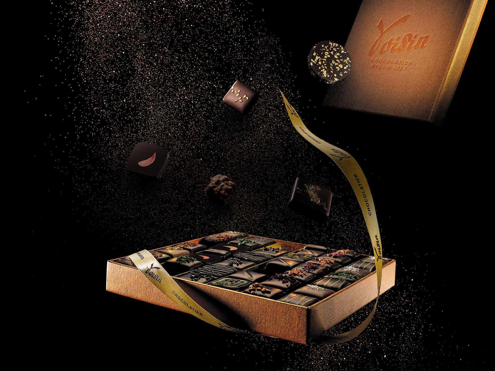 Coffrets cadeaux d'affaires chocolat Voisin